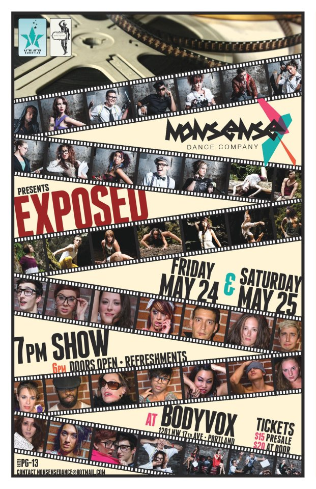 Nonsense Dance Company: Exposed.  May 24th-25th, 2013